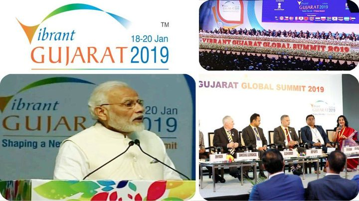 Mammoth scale! 30000 participants, 130 countries all under one roof #VibrantGujarat19 #MahatmaMandir. Part of panel discussion 'Why #Australia' with #AllanBorder, celebrated Cricketer, as co-panelist #MPS