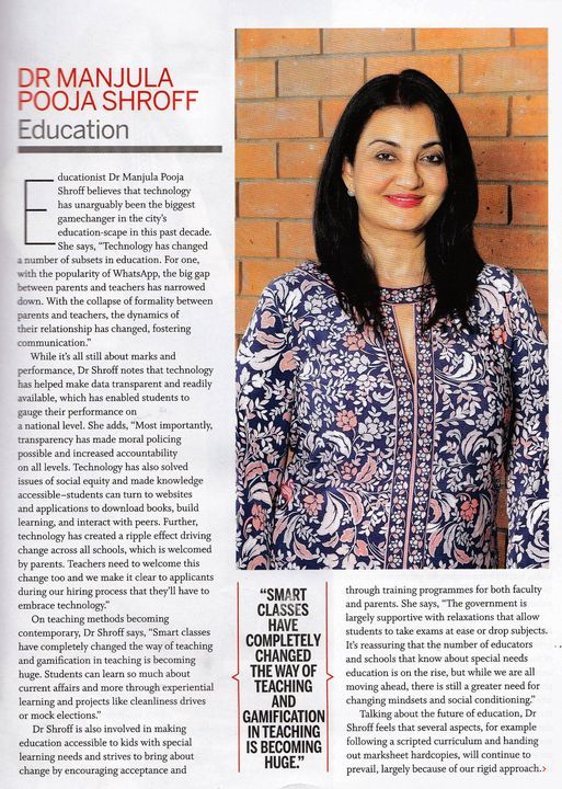 Special feature in the anniversary issue of #Femina magazine #MPS #Kalorex #education