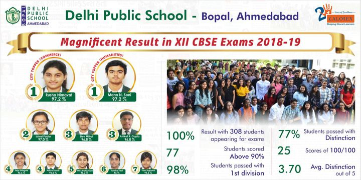 Yet another year of exceptional results. Yali Ho!  #DPS #Bopal #CBSE #Class12 #results #MPS #Kalorex