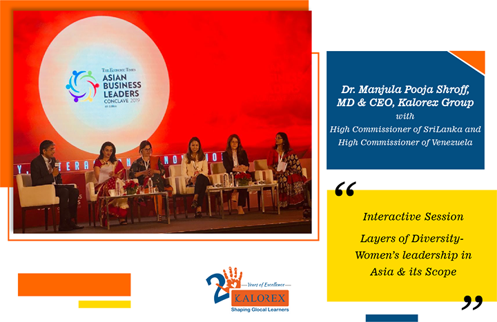 Dr. Manjula Pooja Shroff, MD & CEO, Kalorex Group with High Commissioner of SriLanka and High Commissioner of Venezuela. Interactive Session on Layers of Diversity - Women's leadership in Asia & its Scope.  #AsianBusinessLeaders #Award #EconomicTimes #Singapore #MarinaBaySands #InteractiveSession