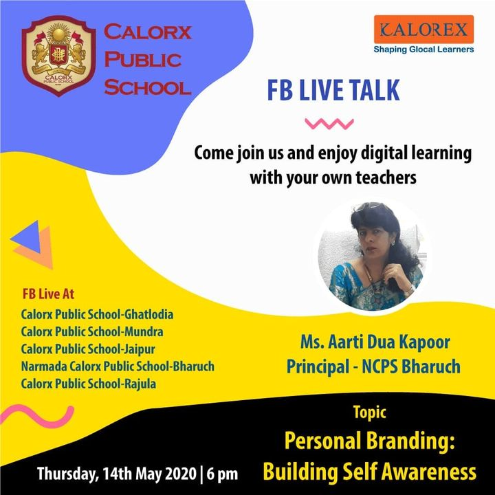 CPS  brings you, a series of powerful talks aimed at spreading thoughts from India's most inspired thinkers, with the community of curious minds to engage and connect with each other.  14th  May Thursday   -6 pm Live on www.facebook.com of CPS schools.  #cps #Fblive #Parents #Students #learning #Engagement #Education #IndustryExperts #kalorex #Yali HO !