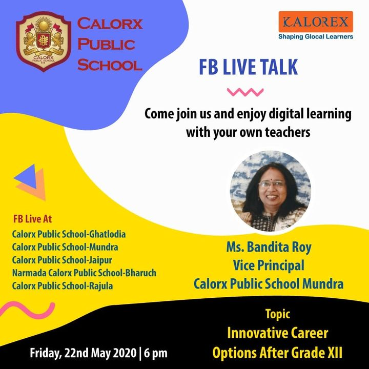 CPS  brings you, a series of powerful talks aimed at spreading thoughts from India's most inspired thinkers, with the community of curious minds to engage and connect with each other.  Friday 22nd May  -6 pm Live on www.facebook.com of CPS schools.  #cps #Fblive #Parents #Students #learning #Engagement #Education #IndustryExperts #kalorex #Yali HO !