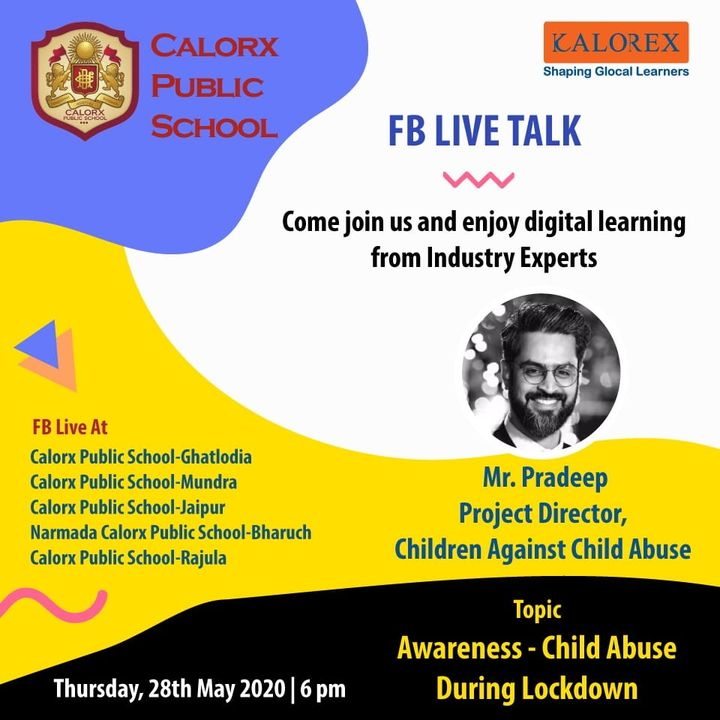 CPS  brings you, a series of powerful talks aimed at spreading thoughts from India's most inspired thinkers, with the community of curious minds to engage and connect with each other.  Thursday, 28th May  -6 pm Live on www.facebook.com of CPS schools.  #cps #Fblive #Parents #Students #learning #Engagement #Education #IndustryExperts #kalorex #Yali HO !