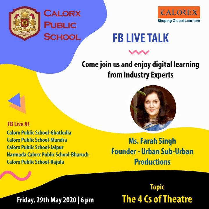 CPS  brings you, a series of powerful talks aimed at spreading thoughts from India's most inspired thinkers, with the community of curious minds to engage and connect with each other.  Friday, 29th  May-6 pm Live on www.facebook.com of CPS schools.  #cps #Fblive #Parents #Students #learning #Engagement #Education #IndustryExperts #kalorex #Yali HO !