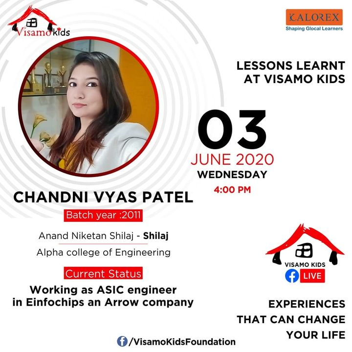 Visamo Kids Foundation, a shelter home for children from disadvantaged background, from across the state, is hosting a series of talks on this page from tomorrow evening. Chandni,, an alumni of Visamo is sharing her life lessons learnt at and during her journey of twelve years at Visamo, from Class I, at the tender age of 6years, till completion of class XII. After stepping out of the institution, Chandni completed Engineering studies and is working currently. She believes in giving back to the society and is passionate about helping a Visamo kid.   Visamo strives towards empowering lives through access to quality education in partnership with the finest of the schools in the city, grassroots organizations and the community at large. Till date 36 children have graduated out after completing XII and are pursuing higher studies. Many have completed their studies and have started earning and supporting their families.   Come. Join the talks. Listen to their struggles, life lessons within  the shelter home, challenges and opportunities....  #Education #RTE #Empowerment #Kalorex #RighttoLife #SJISBopal