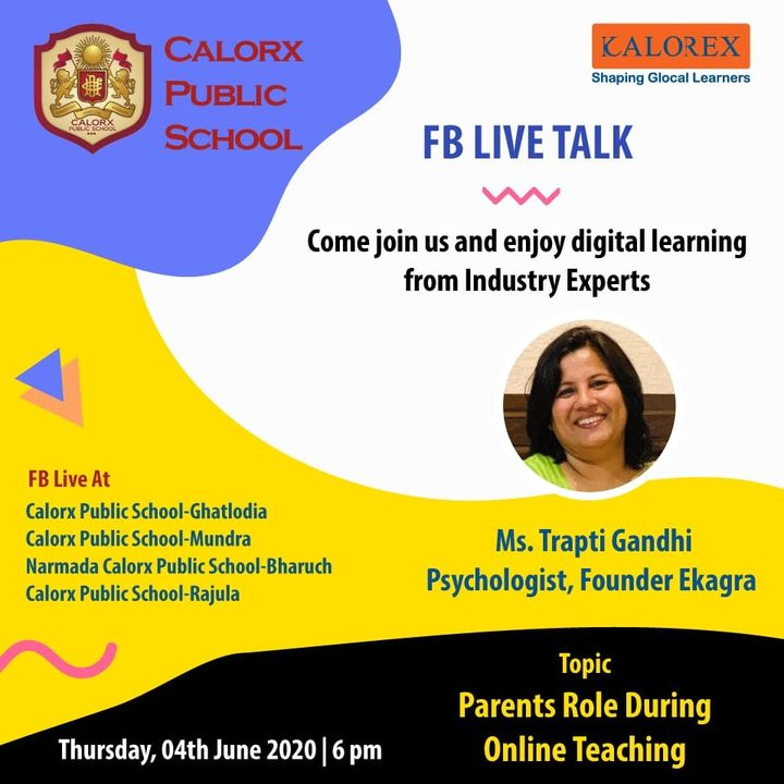 CPS  brings you, a series of powerful talks aimed at spreading thoughts from India's most inspired thinkers, with the community of curious minds to engage and connect with each other.  Thursday 4th June -6 pm Live on www.facebook.com of CPS schools.  #cps #Fblive #Parents #Students #learning #Engagement #Education #IndustryExperts #kalorex #Yali HO !