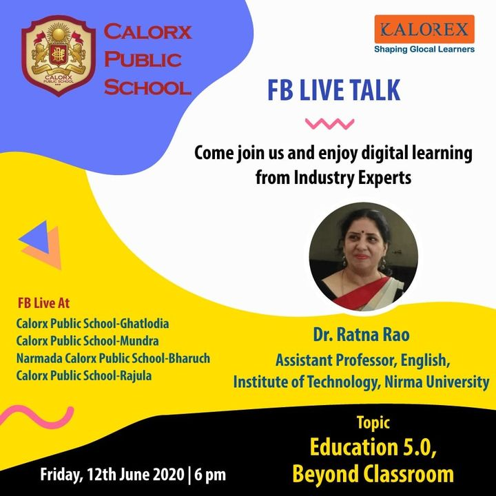 CPS  brings you, a series of powerful talks aimed at spreading thoughts from India's most inspired thinkers, with the community of curious minds to engage and connect with each other.  Friday 12th June -6 pm Live on www.facebook.com of CPS schools.  #cps #Fblive #Parents #Students #learning #Engagement #Education #IndustryExperts #kalorex #Yali HO !