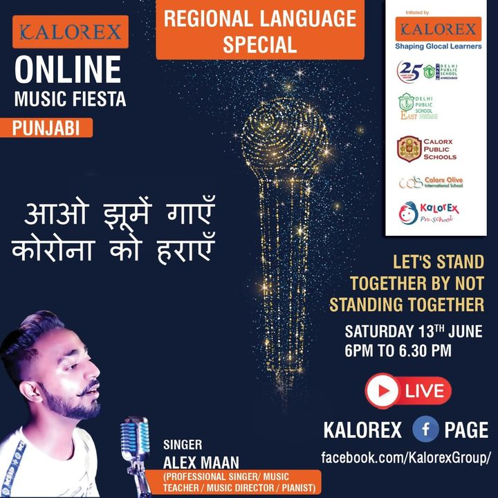 KOMF Regional (part 1) bring to you the next singer from Punjab. Alex is his Pseudonym.  His orthonym is Maninder Maan, a Delhi based young artist building his career as a pianist and professional singer.  Please do join in for a musical evening with _Punjab da tadka_  #KOMF #Kalorex #Regionallanguagespecial #Saturday13thJune #6pmFBlive