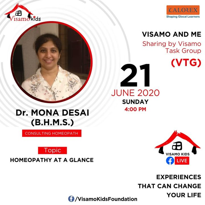 Visamo Kids Foundation- A shelter home in Ahmedabad, housing underprivileged kids across the state, brings to you all, Mentors' Talk, a series of powerful talks by Visamo Mentors.  Visamo Mentors' Talk Episode No. 1 is today, Sunday, 21st June, 2020 Time: 4 pm Live on https://www.facebook.com/VisamoKidsFoundation Speaker: Dr. Mona Desai #education #ShareWithPride #empowerment #VisamoSpeakSeries