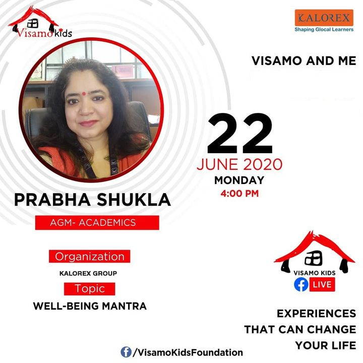Visamo Kids Foundation- A shelter home in Ahmedabad, housing underprivileged kids across the state, brings to you all, Mentors' Talk, a series of powerful talks by Visamo Mentors.  Visamo Mentors' Talk Episode No. 2 is today, Monday,, 22 June, 2020 Time: 4 pm Live on https://www.facebook.com/VisamoKidsFoundation Speaker: Prabha Shukla #education #ShareWithPride #empowerment #VisamoSpeakSeries