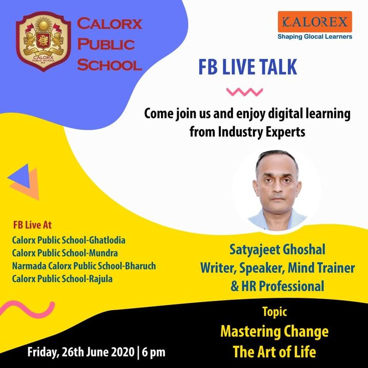 CPS  brings you, a series of powerful talks aimed at spreading thoughts from India's most inspired thinkers, with the community of curious minds to engage and connect with each other.  Friday 26th june -6 pm Live on www.facebook.com of CPS schools.  #cps #Fblive #Parents #Students #learning #Engagement #Education #IndustryExperts #kalorex #Yali HO !