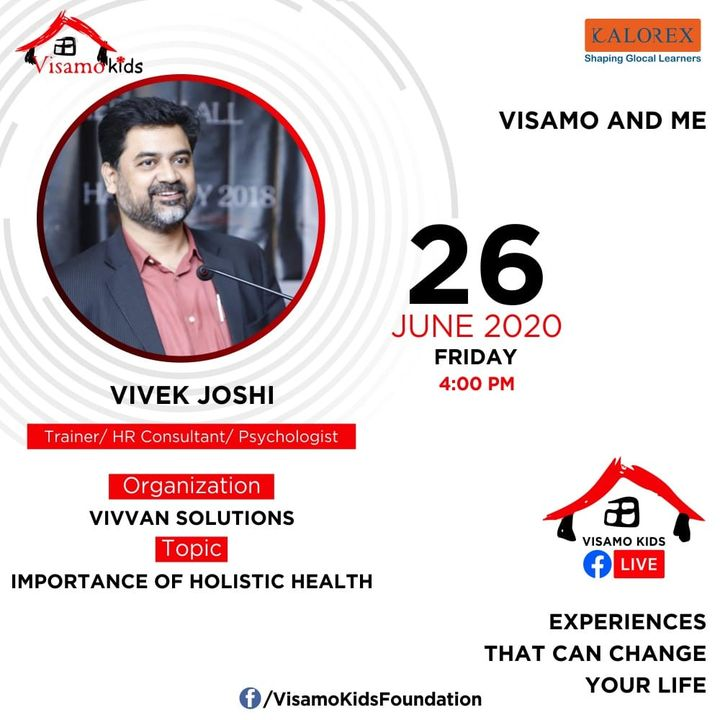 Visamo Kids Foundation- A shelter home in Ahmedabad, housing underprivileged kids across the state, brings to you all, Mentors' Talk, a series of powerful talks by Visamo Mentors.  Visamo Mentors' Talk Episode No. 6 is today, Friday, 26 June, 2020 Time: 4 pm Live on https://www.facebook.com/VisamoKidsFoundation Speaker: Vivek Joshi #education #ShareWithPride #empowerment #visamospeakseries