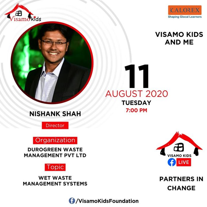 Visamo Kids Foundation - A shelter home in Bopal, Ahmedabad, housing underprivileged kids selected from across the state, brings to you all, a series of powerful talks by Visamo Parivaar.  Visamo Speak Series Episode No. 72 is on Tuesday, 11 August at 7PM Live on https://www.facebook.com/VisamoKidsFoundation Speaker: Mr. Nishank Shah  Please do join the talk. #VISAMO #VKF #Education #ShareWithPride #Empowerment #VisamoSpeakSeries #PartnersInchange #Kalorex #RTE #PartnershipsMatter #collaboration #COVID19 #newnormal #NGO #Impact #wastefree #wastemanagement #wasterecycling