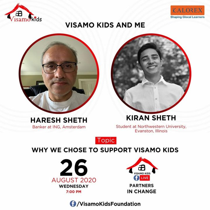 Visamo Kids Foundation - A shelter home in Bopal, Ahmedabad, housing underprivileged kids selected from across the state, brings to you all, a series of powerful talks by Visamo Parivaar.  Visamo Speak Series Episode No. 86 is on Tuesday, 25 August at 7 PM Live on https://www.facebook.com/VisamoKidsFoundation Speaker: Mr. Biswajeet Chatterjee  Please do join the talk. #VISAMO #VKF #Education #ShareWithPride #Empowerment #VisamoSpeakSeries #PartnersInchange #Kalorex #RTE #PartnershipsMatter #collaboration #COVID19 #newnormal #NGO #Impact #entrepreneur  #support #hareshsheth #KiranSheth