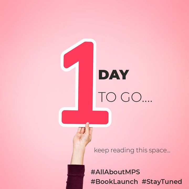 Staytuned for more information...  #allaboutMPS #BookLaunch #Statuned  #TGIS #weekend #weekendloading #newness #books #readers #myspace #metime #dedication #SHROFFism #manjulapoojashroff #MPS