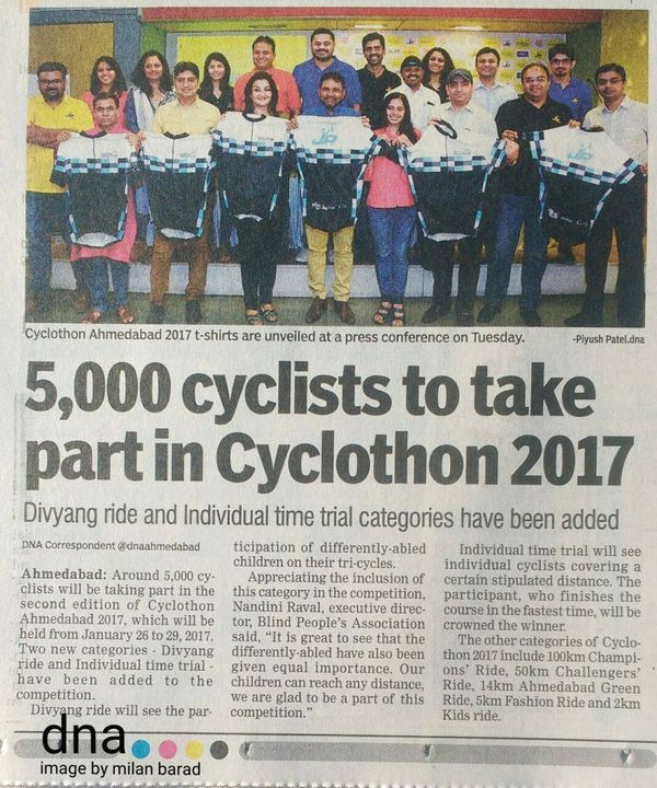 At the press conference for #CyclothonAhmedabad 2017.  Also, felicitating the winner of the 10 km run (wheelchair category) during the #HalfMarathon #BSHM2016