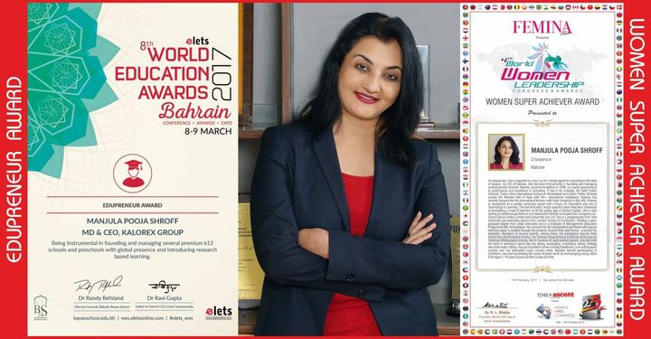 Honoured to receive the prestigious 'Edupreneur Award' at the 8th World Education Awards, Bahrain and the 'Women Super Achiever Award' at the 4th World Women Leadership Congress  #WES2017 #WBC25SG