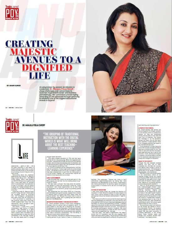 Featured in the 'Person of the Year 2016-17' issue of Asia One magazine