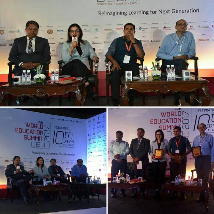 Discussing the trends in Indian Education @ The 10th World Education Summit 2017 in Delhi   #WESDelhi #MPS #Edupreneur