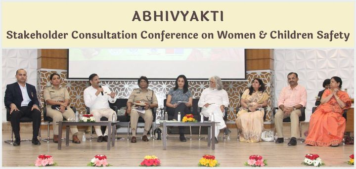 Moderated the panel discussion on Safety in Education @Abhivyakti - Stakeholder Consultation Conference on Women and Children Safety held at Gujarat University recently.  #MPS #Edupreneur #SafetyInEducation