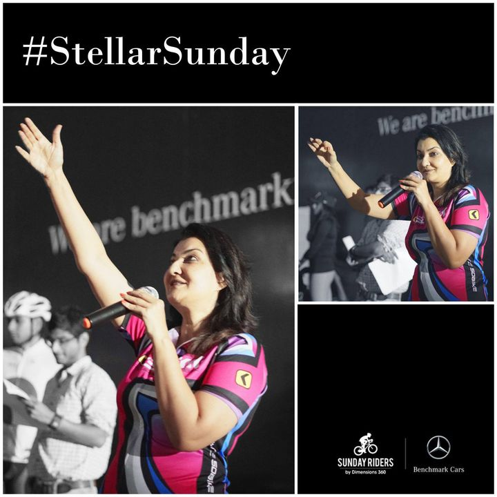 Flagged off the #StellarSunday Ride organised by Mercedes-Benz Benchmark Cars.