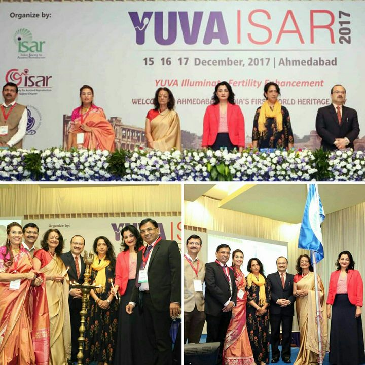 Inaugurating the Gujarat #YUVAISAR2017 conference on IVF. Happy to interact with Young  Gynaecologists. #MPS