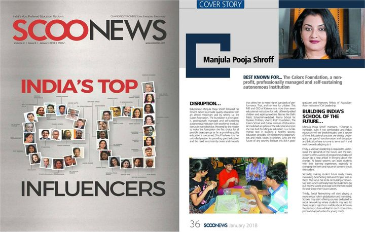 Featured on the cover story of the latest issue of ScooNews magazine. #MPS #Edupreneur #Kalorex