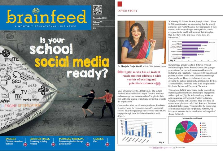 Talking about the powerful reach and impact of Social Media in this comprehensive cover story by Brainfeed Magazine #MPS #SocialMedia