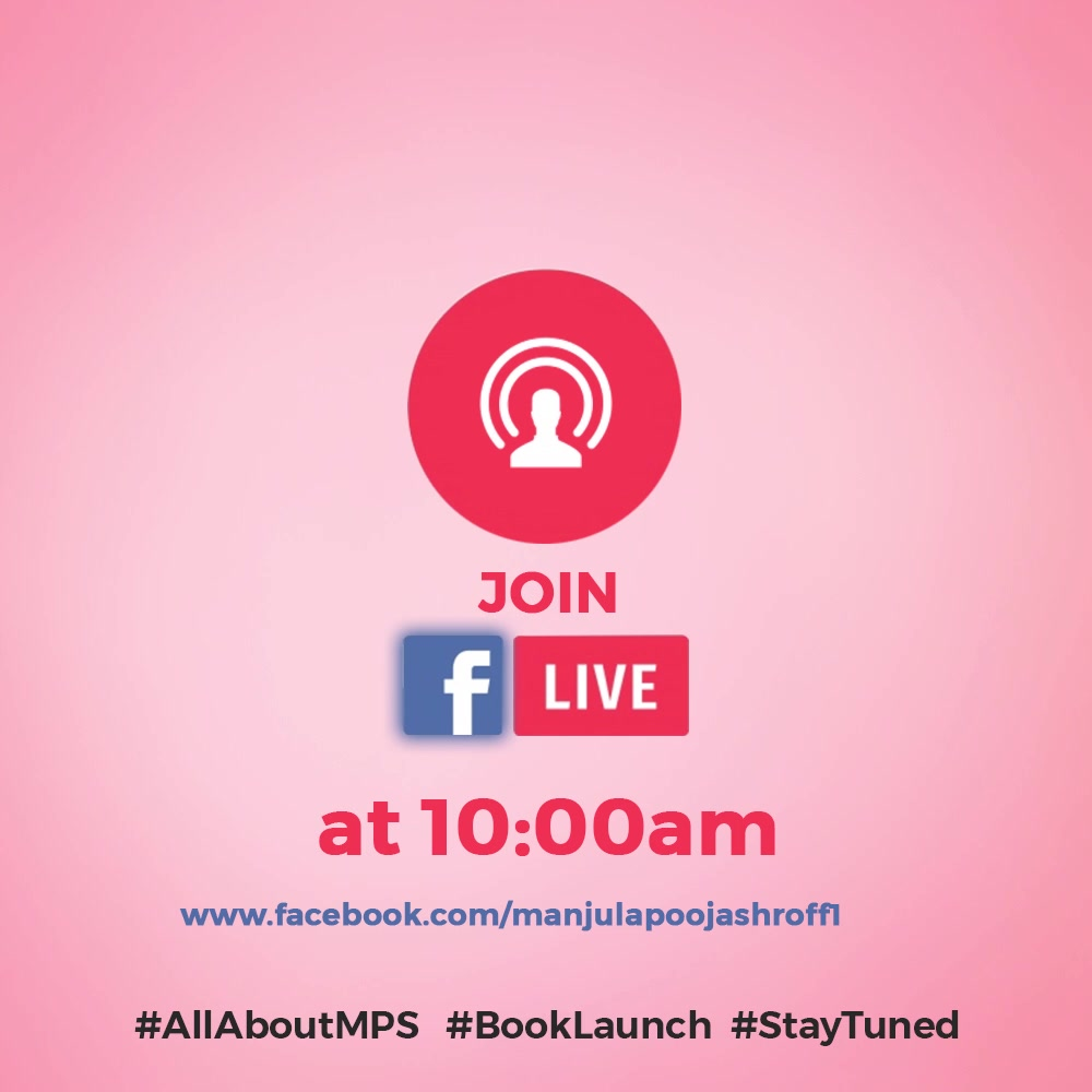 Staytuned for more information...tomorrow 10 am Join FB live   #allaboutMPS #BookLaunch #Statuned  #TGIS #weekend #weekendloading #newness #books #readers #myspace #metime #dedication #SHROFFism #manjulapoojashroff #MPS