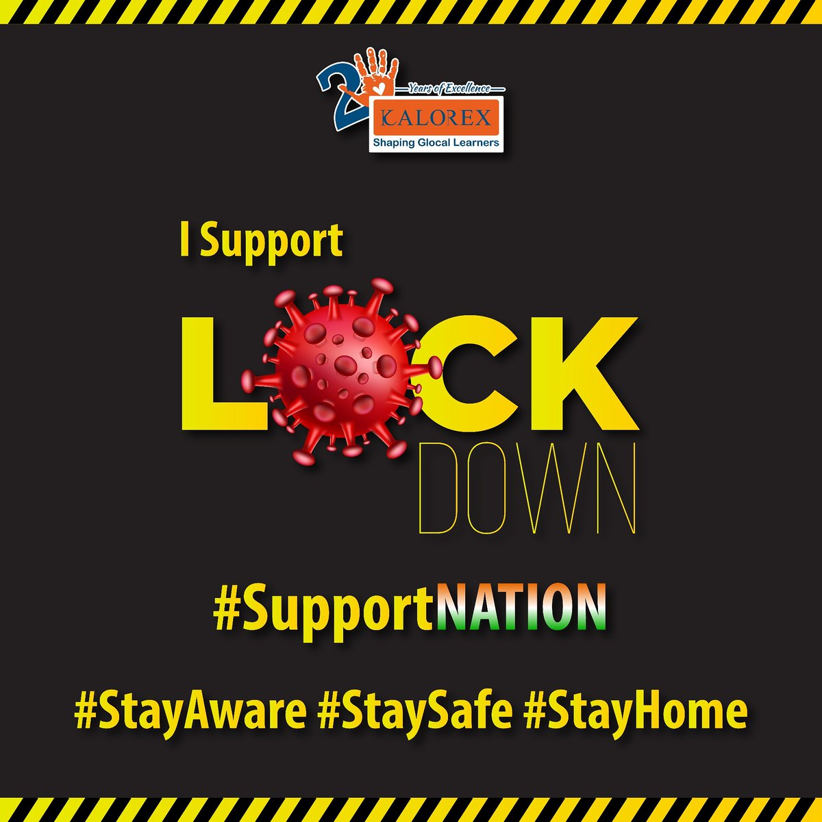 I Support #Lock down #Support Nation #Stay Aware #Stay Safe #Stay Home https://t.co/pL9IebGxOh