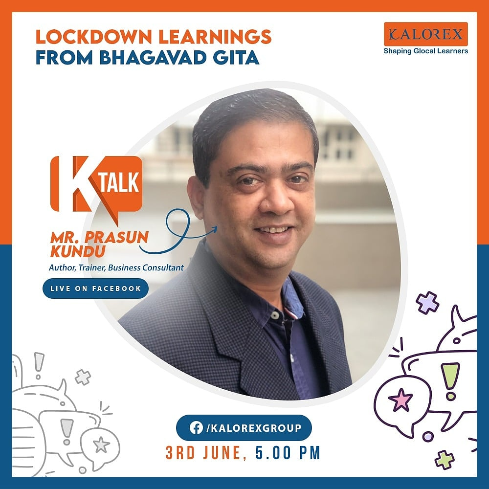Kalorex Group  Ktalk, a series of powerful talks devoted to spreading ideas from India's most inspired thinkers, with the community of curious minds to engage and connect with each other  Kalorex Group presents KTalk Episode No. 8 on Wednesday, 3rd June, 2020  #Ktalk #kalorex https://t.co/Y5ccrKIqRb
