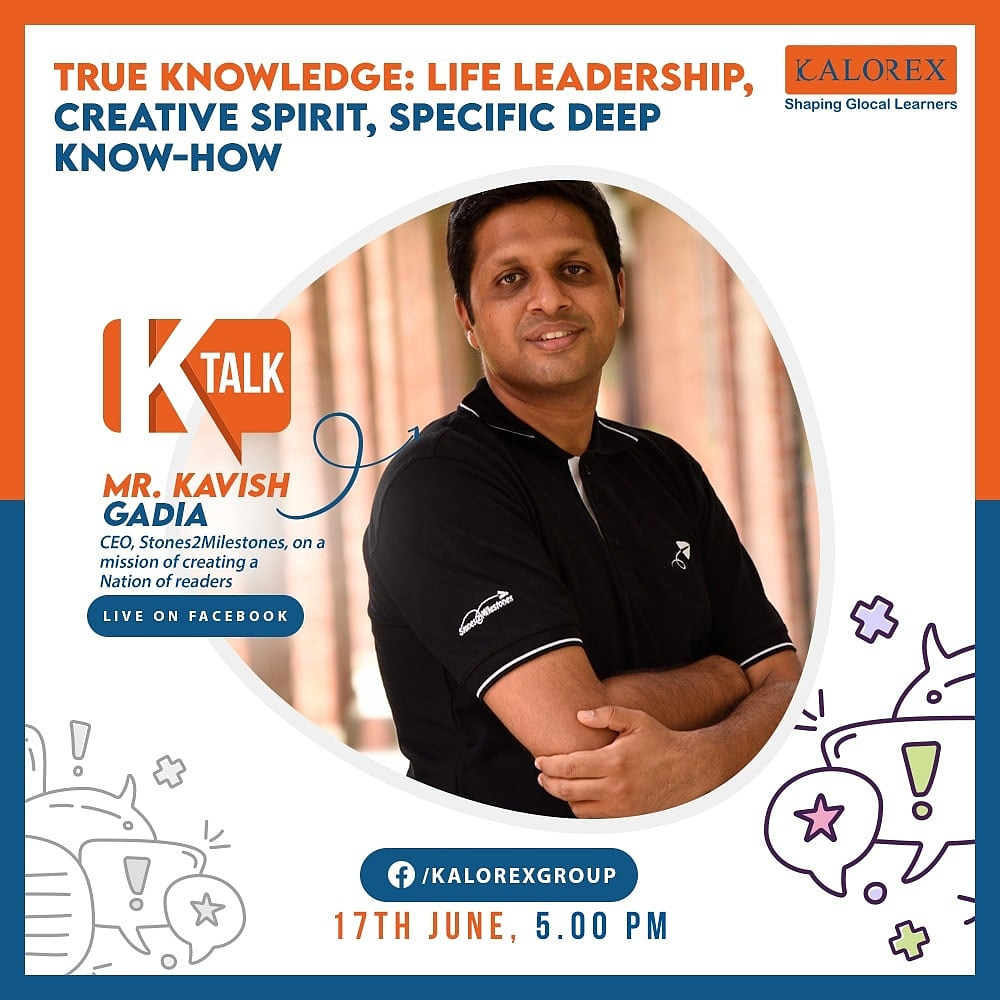 K Talk, a series of powerful talks devoted to spreading ideas from India's most inspired thinkers, with the community of curious minds to engage and connect with each other.  Topic: True Knowledge: Life Leadership, Creative Spirit, Specific Deep Know-How  *#Ktalk #Kalorex https://t.co/VSiPJbqw8F