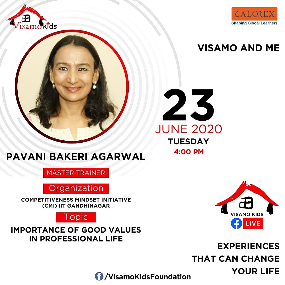 Visamo Kids Foundation- A shelter home in Ahmedabad, housing underprivileged kids across the state, brings to you all, Mentors' Talk, a series of powerful talks by Visamo Mentors.   #education #ShareWithPride #empowerment #VisamoSpeakSeries https://t.co/B3ItjEGoxH
