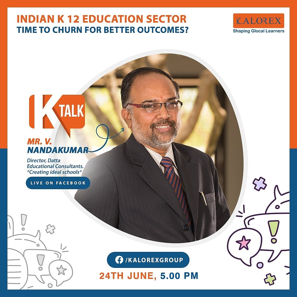 Kalorex Group  K Talk, a series of powerful talks devoted to spreading ideas from India's most inspired thinkers, with the community of curious minds to engage and connect with each other  Kalorex Group presents K Talk Episode No. 11 on Wednesday, 24th June.  #Ktalk #kalorex https://t.co/trtfDP7jCz