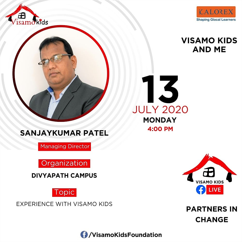Visamo Kids Foundation - A shelter home in Bopal, Ahmedabad, housing underprivileged kids selected from across the state, brings to you all, a series of powerful talks by Visamo Parivaar.  #PartnersInchange #Kalorex #RTE #PartnershipsMatter #Collaboration https://t.co/D4UObucJg2