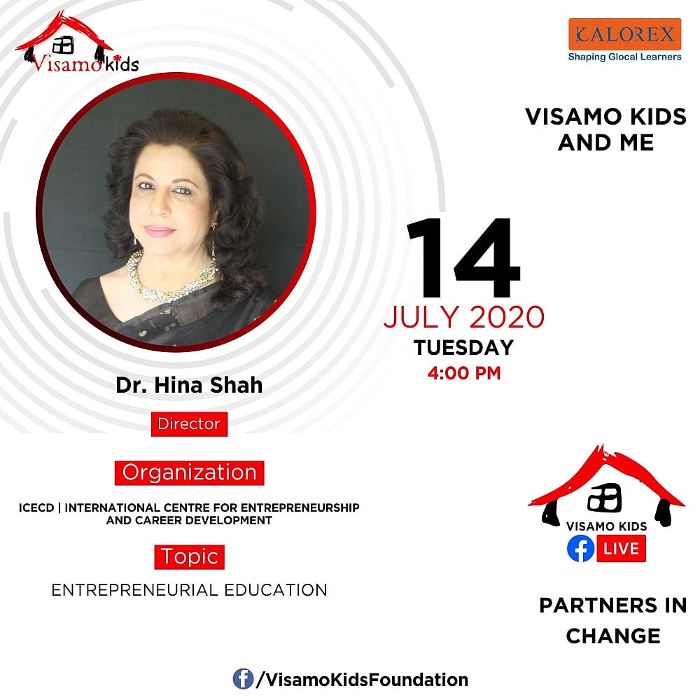Visamo Kids Foundation - A shelter home in Bopal, Ahmedabad, housing underprivileged kids selected from across the state, brings to you all, a series of powerful talks by Visamo Parivaar.  #collaboration #socialentrepreneurship https://t.co/NzKC7APRoD