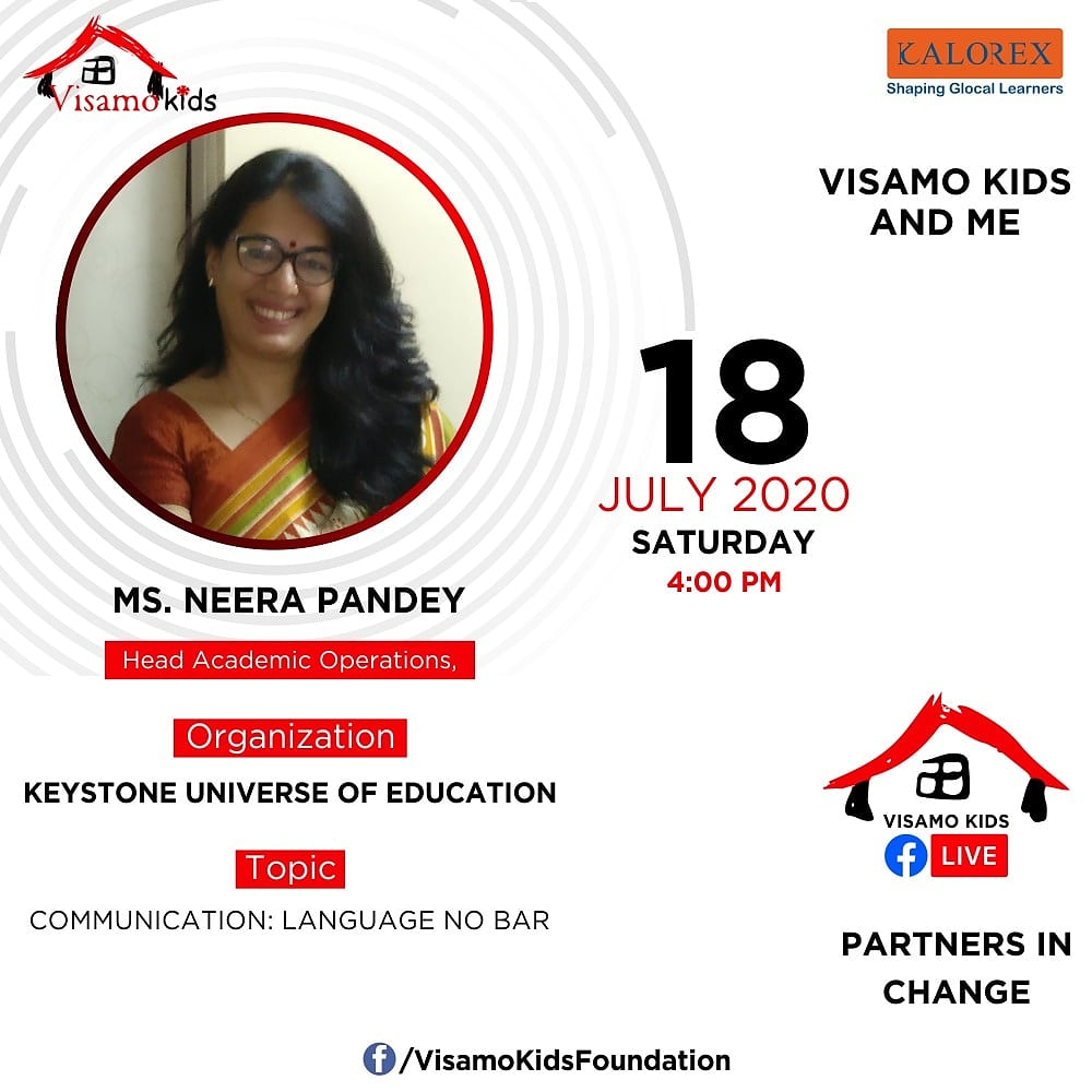 Visamo Kids Foundation - A shelter home in Bopal, Ahmedabad, housing underprivileged kids selected from across the state, brings to you all, a series of powerful talks by Visamo Parivaar.  #PartnersInchange #Kalorex #RTE #PartnershipsMatter #collaboration https://t.co/Par6GyucrW