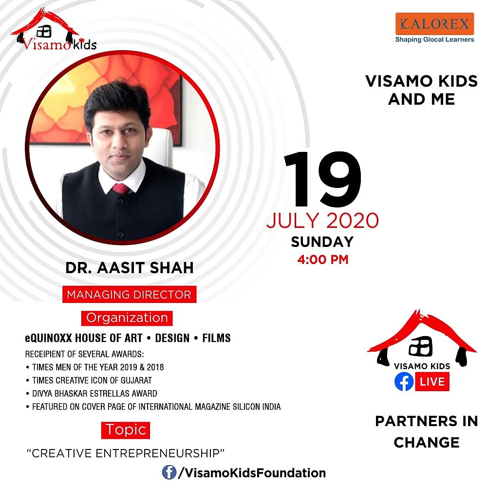 Visamo Kids Foundation - A shelter home in Bopal, Ahmedabad, housing underprivileged kids selected from across the state, brings to you all, a series of powerful talks by Visamo Parivaar. #PartnersInchange #Kalorex #RTE #PartnershipsMatter #collaboration #aasitshah https://t.co/v3hRzyGabO