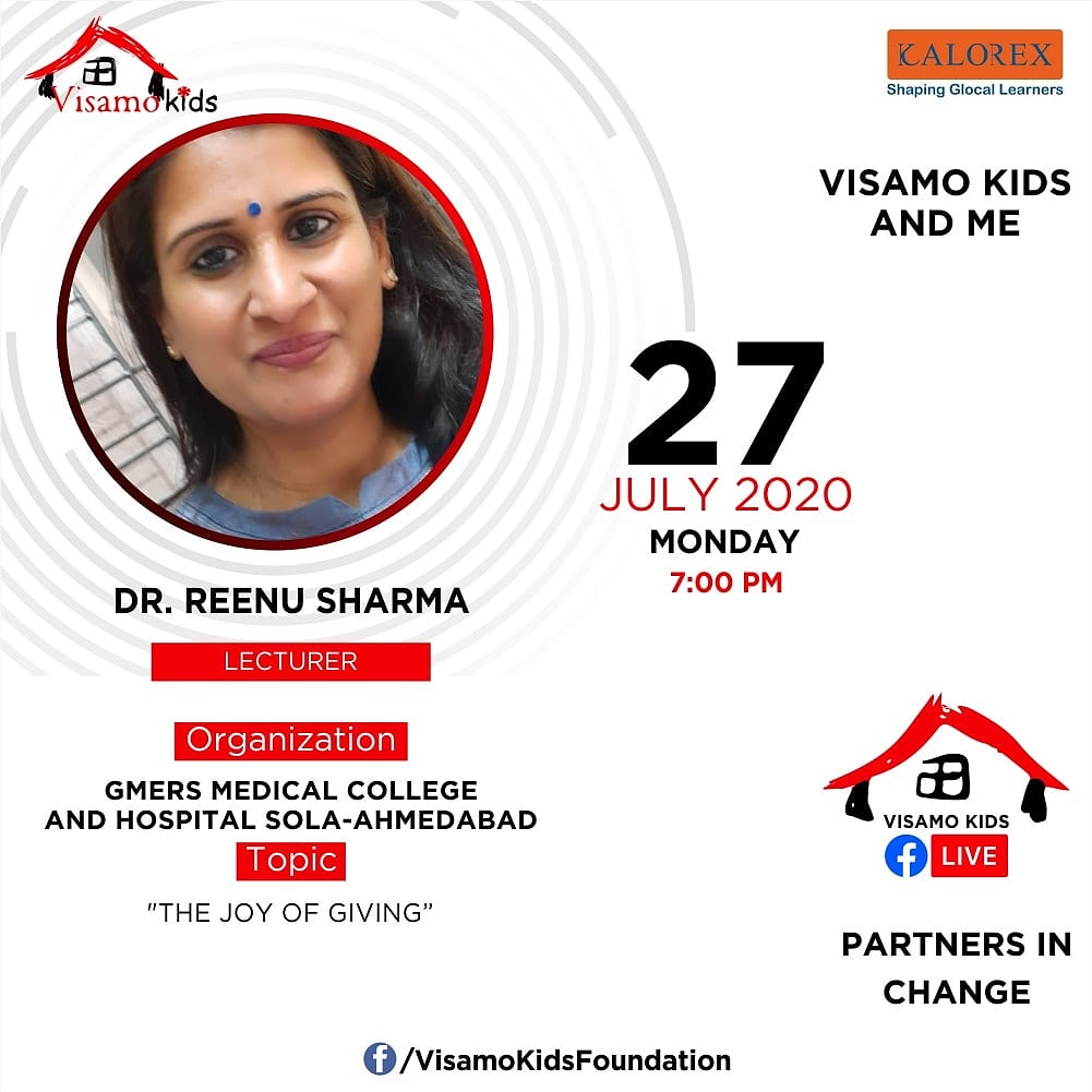 Visamo Kids Foundation - A shelter home in Bopal, Ahmedabad, housing underprivileged kids selected from across the state, brings to you all, a series of powerful talks by Visamo Parivaar.  #PartnersInchange #Kalorex #RTE #PartnershipsMatter #collaboration #COVID19 #joyofgiving https://t.co/WQBGmy4Ck5