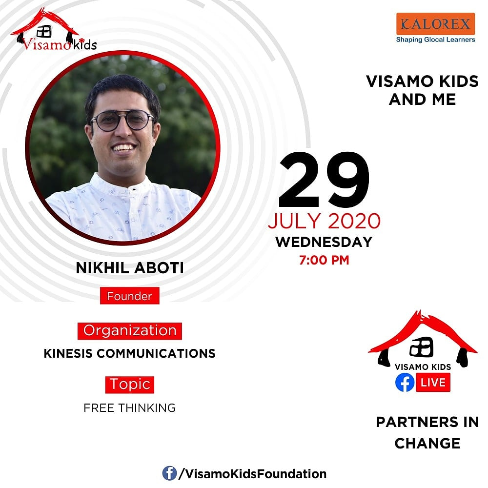 Visamo Kids Foundation - A shelter home in Bopal, Ahmedabad, housing underprivileged kids selected from across the state, brings to you all, a series of powerful talks by Visamo Parivaar.  #PartnersInchange #Kalorex #RTE #PartnershipsMatter #collaboration #COVID19 #freethinking https://t.co/JnoxdDOZIW