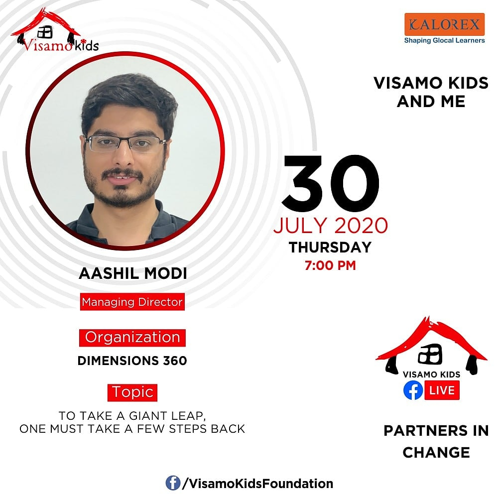 Visamo Kids Foundation - A shelter home in Bopal, Ahmedabad, housing underprivileged kids selected from across the state, brings to you all, a series of powerful talks by Visamo Parivaar.  #PartnersInchange #Kalorex #RTE #PartnershipsMatter #collaboration #COVID19 #dimensions360 https://t.co/cIfGGBlJMt