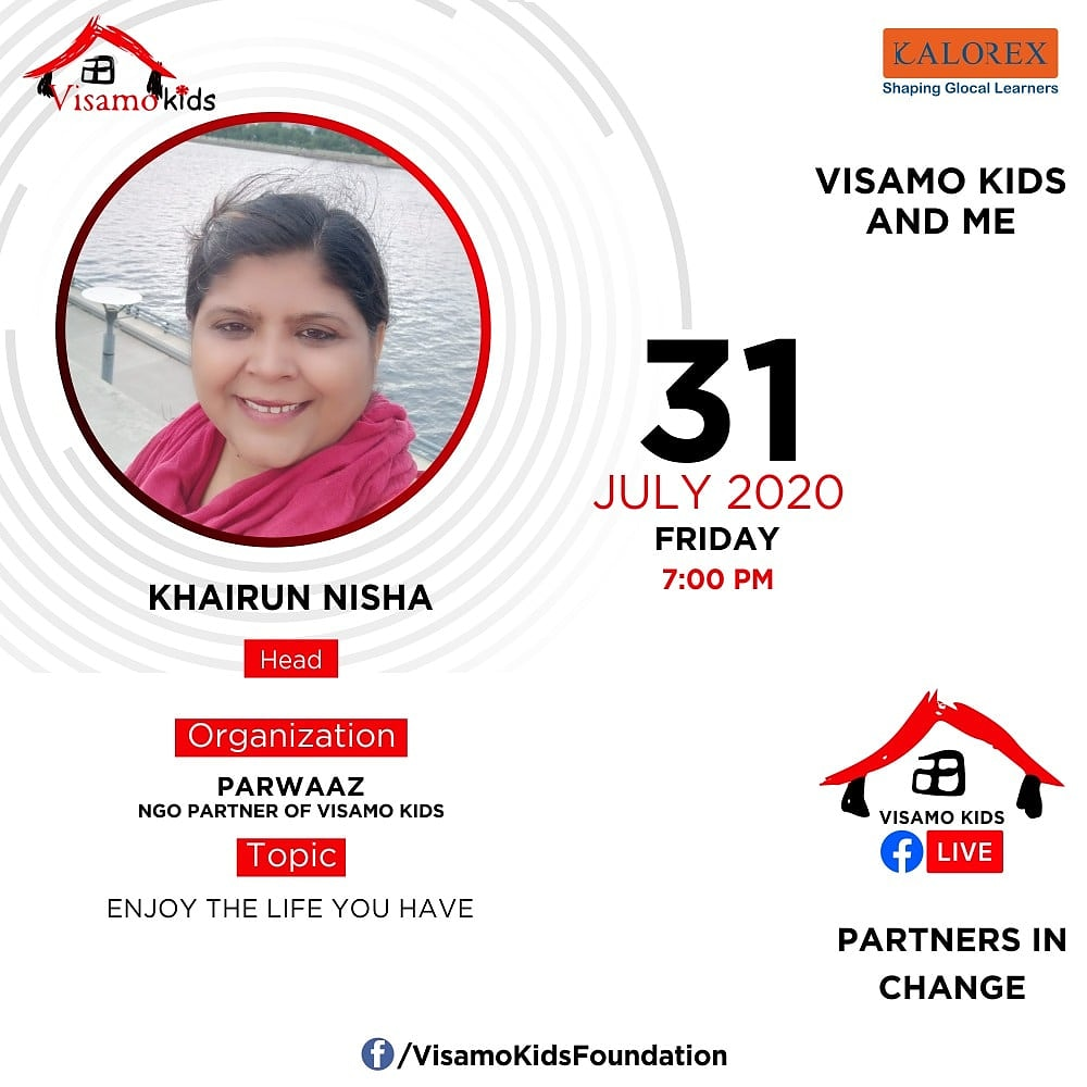Visamo Kids Foundation - A shelter home in Bopal, Ahmedabad, housing underprivileged kids selected from across the state, brings to you all, a series of powerful talks by Visamo Parivaar.  #PartnersInchange #Kalorex #RTE #PartnershipsMatter #collaboration #COVID19 #newnormal https://t.co/BoGzhub4qd