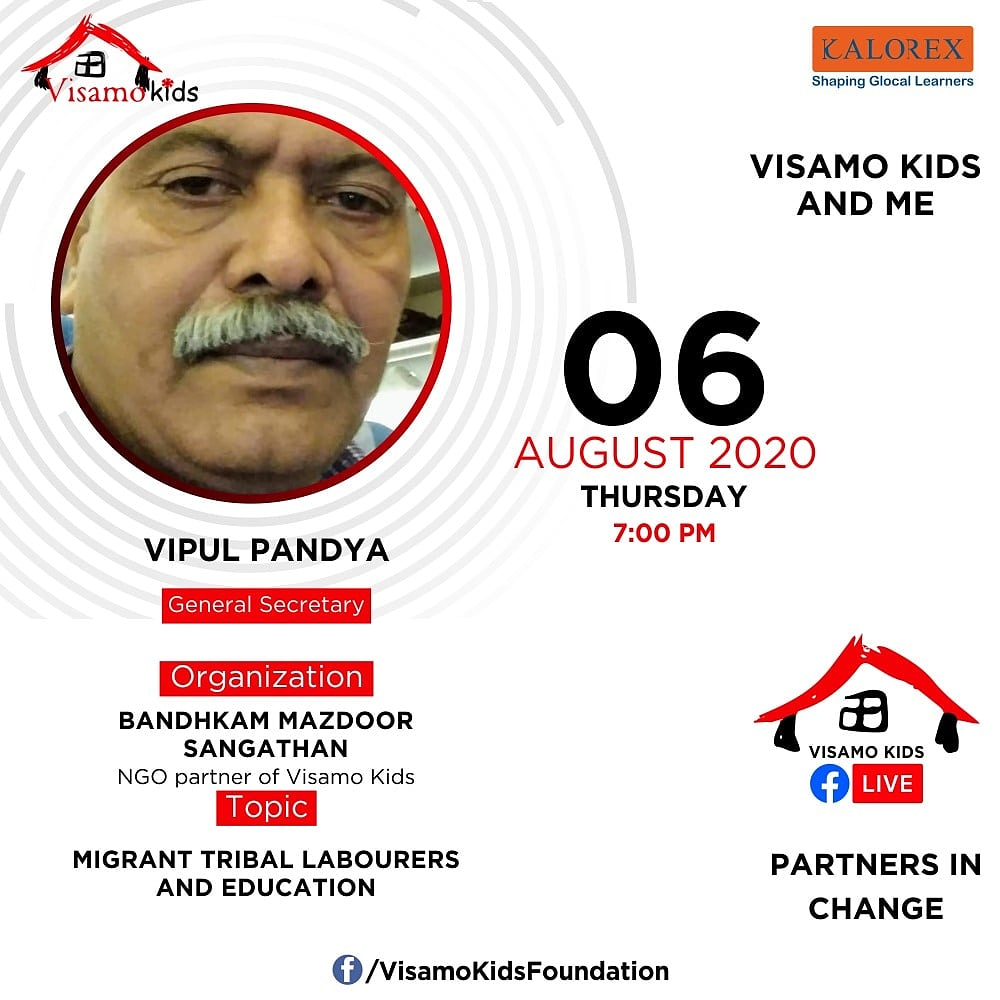 Visamo Kids Foundation - A shelter home in Bopal, Ahmedabad, housing underprivileged kids selected from across the state, brings to you all, a series of powerful talks by Visamo Parivaar.  #PartnersInchange #Kalorex #RTE #PartnershipsMatter #collaboration #COVID19   #migration https://t.co/ZnQGh6Vjk7