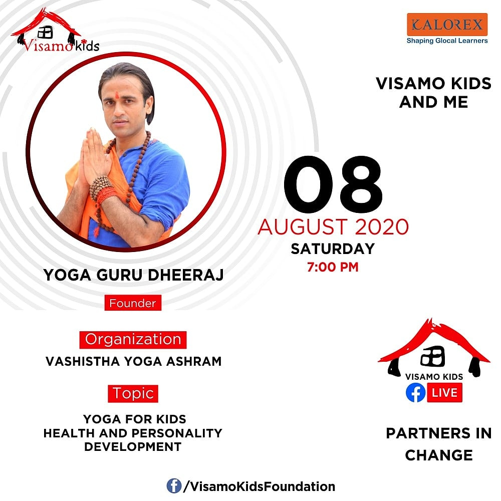 Visamo Kids Foundation - A shelter home in Bopal, Ahmedabad, housing underprivileged kids selected from across the state, brings to you all, a series of powerful talks by Visamo Parivaar.  #PartnersInchange #Kalorex #RTE #PartnershipsMatter #collaboration #COVID19 #yoga https://t.co/Efj661zXqf
