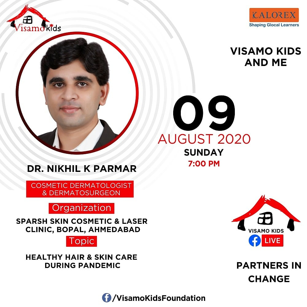 Visamo Kids Foundation - A shelter home in Bopal, Ahmedabad, housing underprivileged kids selected from across the state, brings to you all, a series of powerful talks by Visamo Parivaar.   #PartnersInchange #Kalorex  #PartnershipsMatter #collaboration #COVID19  #skinspecialist https://t.co/S8ERdAsxXp
