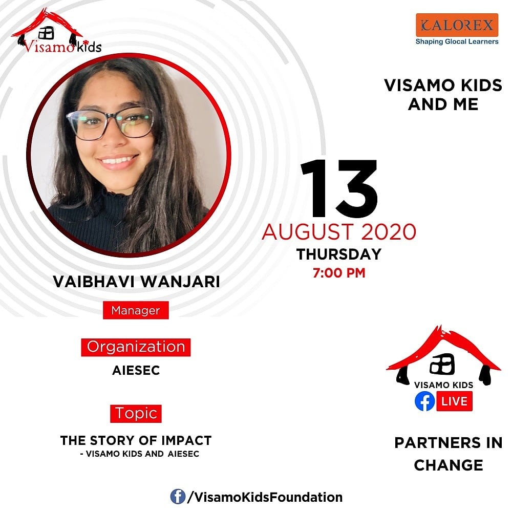 Visamo Kids Foundation - A shelter home in Bopal, Ahmedabad, housing underprivileged kids selected from across the state, brings to you all, a series of powerful talks by Visamo Parivaar.   #PartnersInchange #Kalorex #NGO #Impact #AIESEC https://t.co/Apo8YVz6io