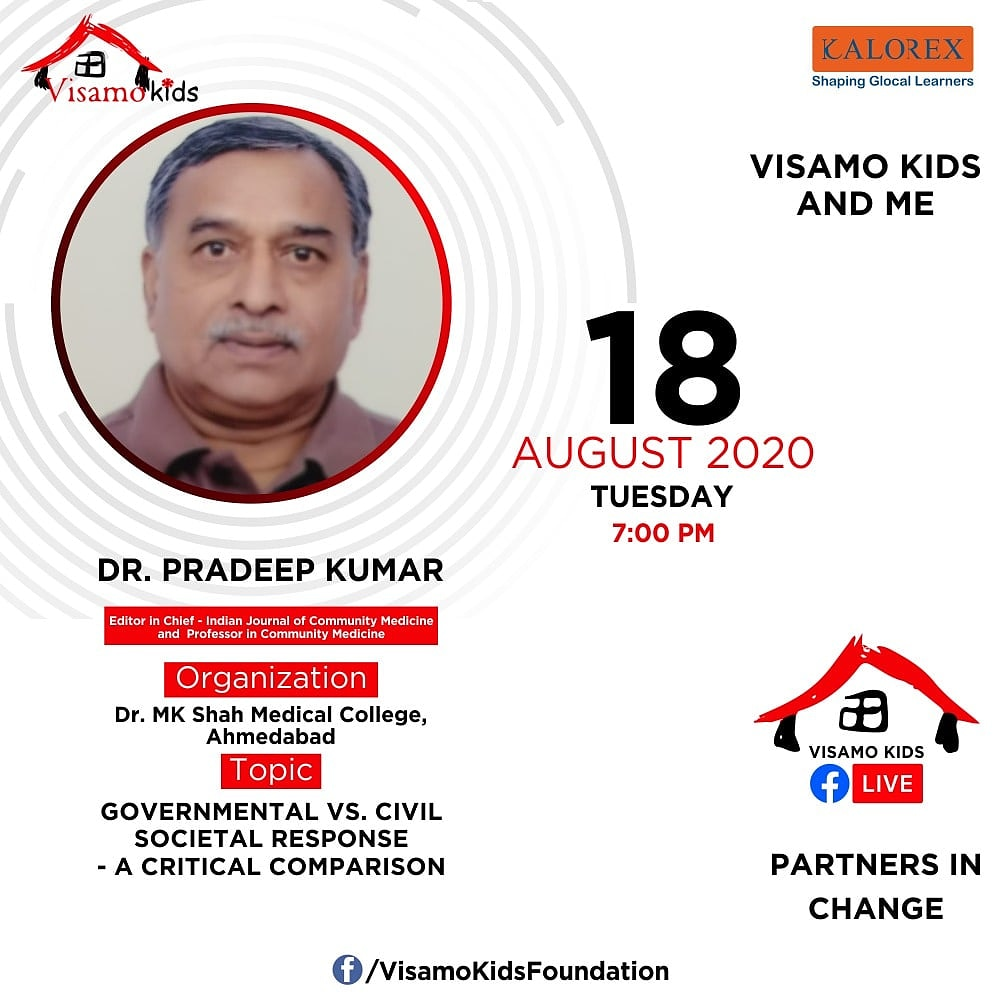 Visamo Kids Foundation - A shelter home in Bopal, Ahmedabad, housing underprivileged kids selected from across the state, brings to you all, a series of powerful talks by Visamo Parivaar.   #PartnersInchange #Kalorex #RTE  #collaboration  #government #drpradeepkumar https://t.co/Q5HstEE27E