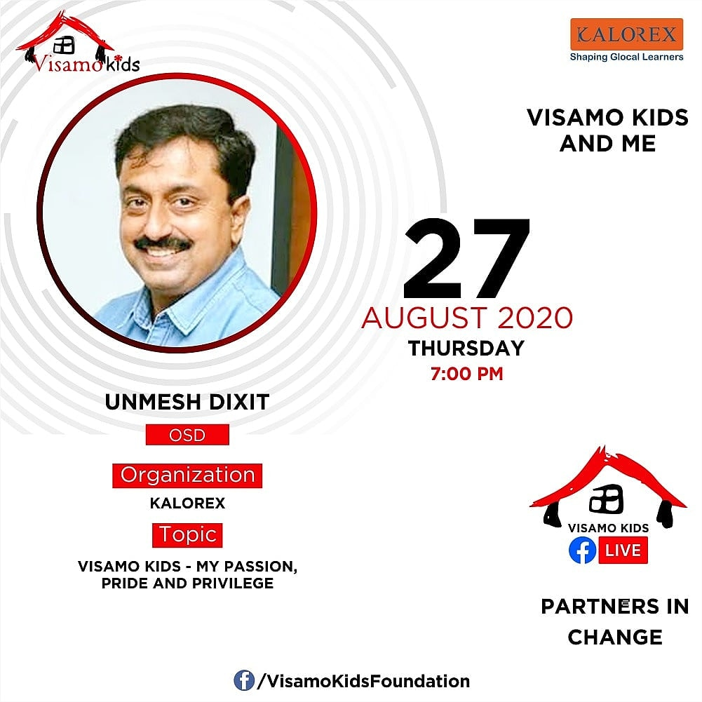 Visamo Kids Foundation - A shelter home in Bopal, Ahmedabad, housing underprivileged kids selected from across the state, brings to you all, a series of powerful talks by Visamo Parivaar. #PartnersInchange #Kalorex #RTE #collaboration  #NGO #Impact #Passion #Privilegedtoserve https://t.co/WPCRrVH2tg