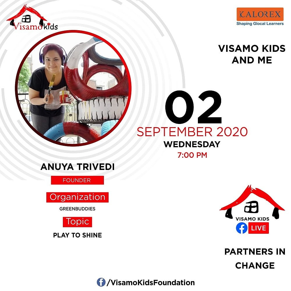 Visamo Kids Foundation - A shelter home in Bopal, Ahmedabad, housing underprivileged kids selected from across the state, brings to you all, a series of powerful talks by Visamo Parivaa  #PartnersInchange #Kalorex #RTE  #NGO #Impact #anuyatrivedi #greenbuddies #Play https://t.co/qq0NiR1hap