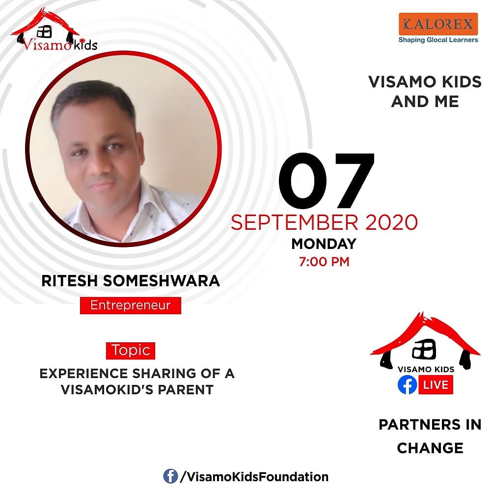 Visamo Kids Foundation - A shelter home in Bopal, Ahmedabad, housing underprivileged kids selected from across the state, brings to you all, a series of powerful talks by Visamo Parivaar.  #PartnersInchange #Kalorex #RTE #collaboration #COVID19  #NGO  #riteshsomeshwara #parents https://t.co/EtowYOYQRr